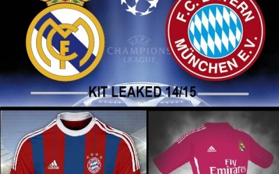 LEAKED: Semifinale CL – REAL MADRID vs BAYERN, le anteprime del web delle maglie ADIDAS 14/15